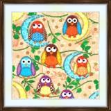 Bead embroidery kit «K-0155 Whoooo Are Yoooou»
