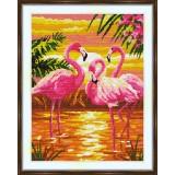 Cross stitch kit «S-0022 Flamingos»