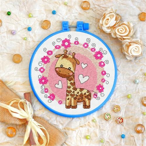 Cross stitch kit «T-0030 Toy Giraffe»