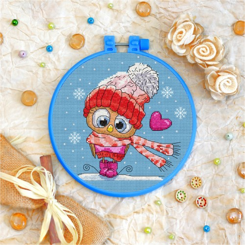 Cross stitch kit «T-0040 Chilly Owl»