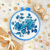 Cross stitch kit «T-0100 Blue Flowers»