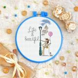 Cross stitch kit «T-0120 Life is Beautiful»