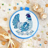 Cross stitch kit «T-0130 Blue Feathered Hen»