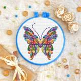 Cross stitch kit «T-0163 Mandala Butterfly»