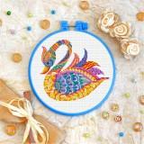 Cross stitch kit «T-0206 Mandala Swan»