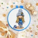 Cross stitch kit «T-0276 Girl in Blue»
