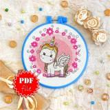 Cross stitch pattern «pdf-T-0015 Toy Unicorn»