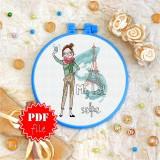 Cross stitch pattern «pdf-T-0065 My Best Selfie»