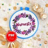 Cross stitch pattern «pdf-T-0135 Namaste 2»