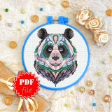 Cross stitch pattern «pdf-T-0155 Mandala Panda»