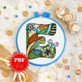 Cross stitch pattern «pdf-T-0188 Letter E»