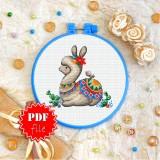 Cross stitch pattern «pdf-T-0253 Llama»