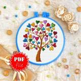 Cross stitch pattern «pdf-T-0271 Love Tree»