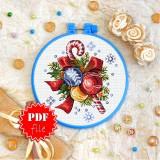 Cross stitch pattern «pdf-T-0286 Happy New Year»