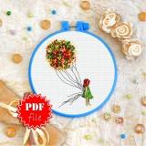 Cross stitch pattern «pdf-T-0306 Green Dress»