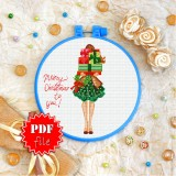 Cross stitch pattern «pdf-T-0333 Merry Christmas to You»