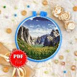 Cross stitch pattern «pdf-T-0384 Mountain Valley»