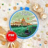 Cross stitch pattern «pdf-T-0414 Venice»