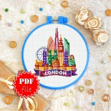 Cross stitch pattern «pdf-T-0434 London»