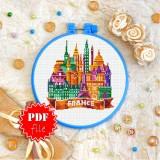 Cross stitch pattern «pdf-T-0444 France»