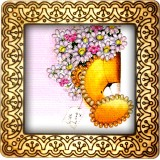 Magnet bead embroidery kit «M-0003 Teddy Bear with Bouquet»