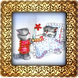 Magnet bead embroidery kit «M-0033 Bedtime Tea»