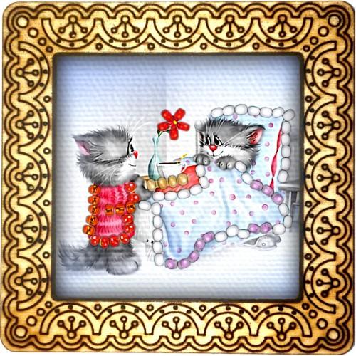 Magnet bead embroidery kit «M-0033 Bedtime Tea»