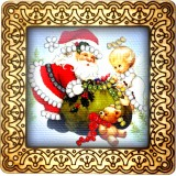 Magnet bead embroidery kit «M-0043 Gifting Santa»