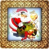 Magnet bead embroidery kit «M-0043 Gifting Santa»