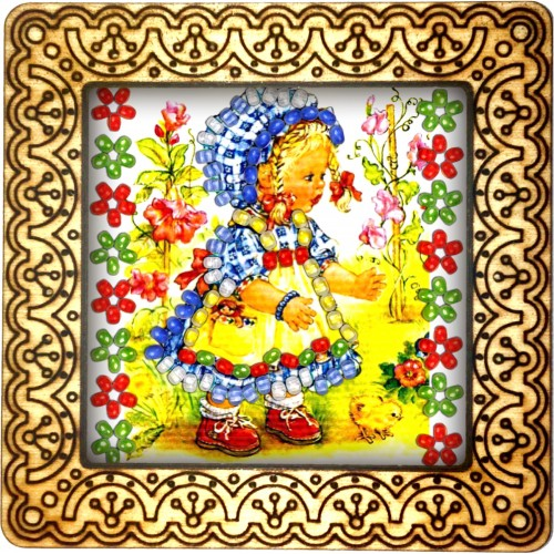 Magnet bead embroidery kit «M-0053 The Red Shoes»