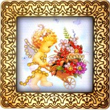 Magnet bead embroidery kit «M-0073 Bringing You Flowers»