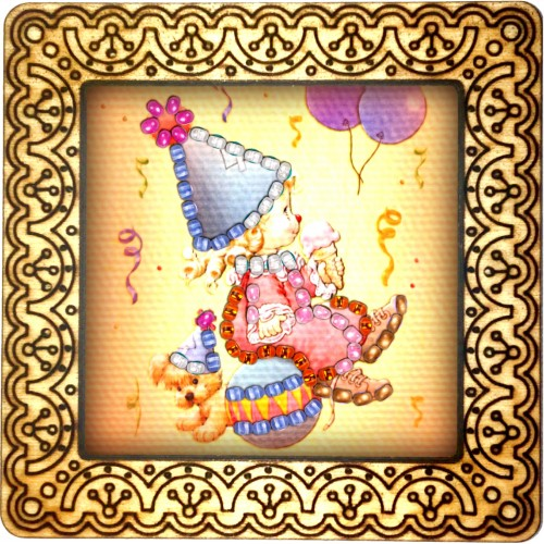 Magnet bead embroidery kit «M-0083 The Party Hat»