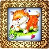 Magnet bead embroidery kit «M-0093 Ginger Tabby Kitten»