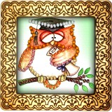 Magnet bead embroidery kit «M-0103 Studious Owlet»