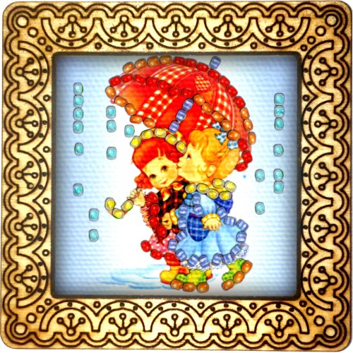 Magnet bead embroidery kit «M-0133 Girlfriends»