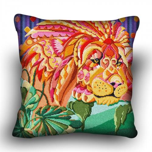 Pillow cross stitch kit «H-0010 Leo the Lion»
