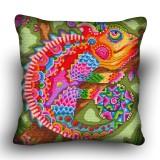 Pillow cross stitch kit «H-0020 Chic Chameleon»