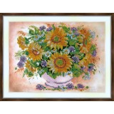 Bead embroidery kit «A-0015 Sunflowers»