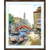 Bead embroidery kit «A-0025 Venice Canal»