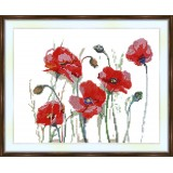 Bead embroidery kit «A-0035 Poppies»