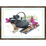 Bead embroidery kit «A-0096 Chinese Tea Service»