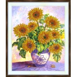 Bead embroidery kit «A-0186 Burgeoning Sunflowers»