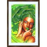 Bead embroidery kit «A-0226 The Green Headdress»
