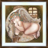 Bead embroidery kit «A-0246 Angel Baby»