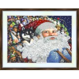 Bead embroidery kit «A-0256 Christmas Eve Santa»