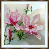 Bead embroidery kit «A-0266 Magnolias»