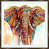 Bead embroidery kit «A-0277 Colorful Elephant»