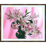 Bead embroidery kit «A-0287 Pink Lilies»
