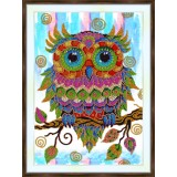 Bead embroidery kit «A-0337 Colorful Owl»
