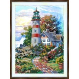 Bead embroidery kit «A-0347 The Lighthouse»